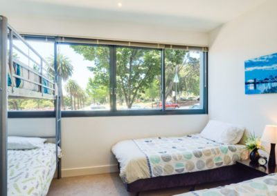 2nd bedroom - Geelong Waterfront Apartments