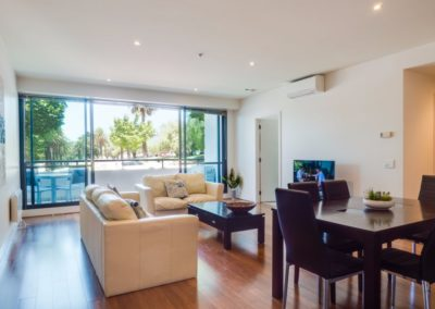 living room  - Geelong Waterfront Apartments